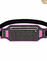cheap -running belt, sports waist pack bag for phone - water resistant - ultra slim soft - sweatproof breathable - adjustable lightweight - 2 pockets travel money fanny packs for women men - rose