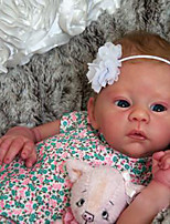 cheap -21 inch Reborn Doll Baby & Toddler Toy Baby Girl Reborn Baby Doll lifelike Hand Made Simulation Hand Applied Eyelashes Floppy Head Cloth Silicone Vinyl with Clothes and Accessories for Girls