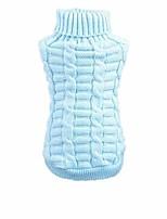 cheap -pet winter knitwear clothes,dog woolen flowers high collar coat puppy warm hemp clothing sweater (xl, sky blue)