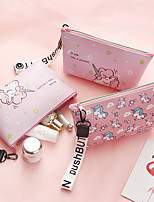 cheap -Travel Organizer Cosmetic Bag Travel Toiletry Bag Large Capacity Waterproof Travel Storage Durable Unicorn PU Leather For Everyday Use Cycling Portable