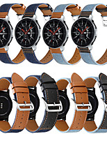 cheap -Watch Band for Gear S3 Classic / Samsung Galaxy Watch 46mm / Samsung Galaxy Watch 3 45mm Samsung Galaxy Classic Buckle / Business Band Genuine Leather Wrist Strap