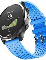 cheap -for garmin vivoactive 3 band/galaxy watch 3 41 mm band/garmin venu band/vivomove hr/ticwatch e/2, 20mm soft silicone replacement sport strap(sky blue small)