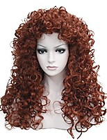 cheap -synthetic heat resistant hair long curly wigs cosplay women wig(130-fox red)