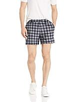 """cheap -amazon brand - men& #39;s 5"""" inseam linen cotton short, dark palm 28"""