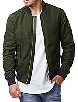 cheap -mens lightweight bomber jackets fall outerwear zip up varsity long sleeve baseball jacket coat for men