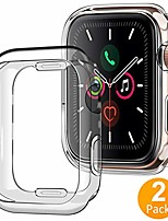cheap -case for apple watch 40mm series 4 5 6 se, (2 packs) soft tpu shock absorption bumper clear protective cover compatible for iwatch series se 6 5 4, (clear)