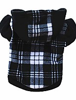 cheap -plaid dog hoodie pet fleece sweater warm winter coat jacket for small medium large dogs (black, s)