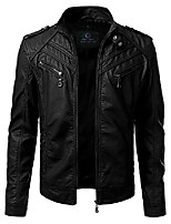 cheap -faux leather jackets for men – men's faux leather jackets (x-large) black