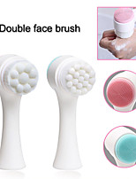 cheap -Double-side Silicone Skin Care Tool Facial Brush Exfoliator Blackhead Removal Face Cleaning Facial Cleansing Brush F184