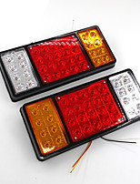 cheap -1 Pair 12V 36 LED Car Truck Tail Light Warning Lights Rear Lamps Waterproof Tailights Rear Parts for Trailer Truck