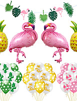 cheap -Party Balloons 35 pcs Flamingo Hawaii Summer Party Supplies Latex Balloons Banner Boys and Girls Party Decoration 12 Inch for Party Favors Supplies or Home Decoration