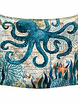 cheap -tapestry bohemian psychedelic wall hanging modern,minimalist,landscape,clear,three-dimensional,octopus,150x200cm