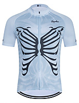 cheap -WECYCLE Men's Women's Short Sleeve Cycling Jersey Polyester Blue Skull Bike Jersey Top Mountain Bike MTB Road Bike Cycling Breathable Quick Dry Reflective Strips Sports Clothing Apparel / Stretchy