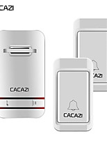 cheap -CACAZI Smart Wireless Doorbell Self-powered No Battery Waterproof Button Receivers Home Calling Bell 38 Chimes
