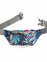 cheap -fanny pack waterproof waist bag running belt men women chest shoulder bag for running hiking waking biking (blue leaf)