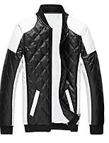 cheap -cloud style men's latticed baseball bomber jacket slim fit coat, small, black