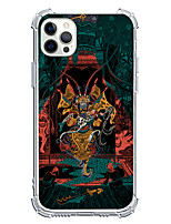 cheap -Chinese Style Case For Apple iPhone 12 iPhone 11 iPhone 12 Pro Max Unique Design Protective Case Shockproof Back Cover TPU