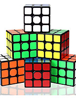 cheap -Speed Cube Set 6 pcs Magic Cube IQ Cube 3*3*3 Speedcubing Bundle 3D Puzzle Cube Stress Reliever Puzzle Cube Stickerless Smooth Office Desk Toys Kid's Adults Toy Gift