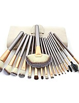 cheap -pro 6pcs cosmetic conscealer foundation powder blending colorful hair fiber makeup brush set kit