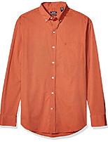 cheap -men's button down long sleeve stretch performance solid shirt, roobios tea orange, xx-large