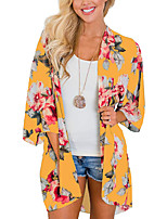cheap -Women's Coat Long Geometric Daily Basic Yellow Navy Blue Gray S M L XL