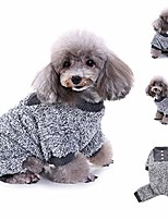 cheap -fashion pet dog winter clothes, plush pajamas warm clothes puppy doggy warm long-haired pullover sweater (s)