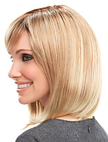 cheap -Synthetic Wig Straight With Bangs Wig Blonde Medium Length Blonde Synthetic Hair Women's Fashionable Design Cool Exquisite Blonde