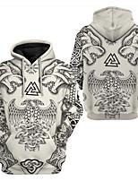 cheap -Inspired by viking Viking Cosplay Costume Hoodie Terylene Print Printing Hoodie For Men's / Women's