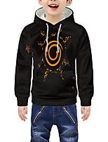 cheap -Kids Boys' Active 3D Graphic Print Long Sleeve Hoodie & Sweatshirt Black