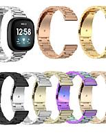 cheap -For Fitbit Versa 3 / Fitbit Sense Fitbit Strap Steel Belt Smart Watch Three Beads Steel Belt Replace Smart Strap