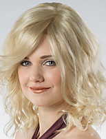 cheap -Synthetic Wig Curly Asymmetrical Wig Medium Length Blonde Synthetic Hair 14 inch Women's Fashionable Design Exquisite Fluffy Brown
