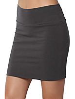 cheap -junior's high waist stretch jersey lined bodycon mini skirt ash grey m