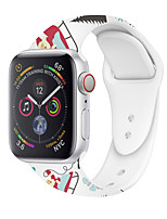 cheap -Watch Band for Apple Watch Series 6 / SE / 5/4 44mm / Apple Watch Series 6 / SE / 5/4 40mm Apple Classic Buckle / Cartoon Band Silicone Wrist Strap
