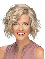 cheap -Synthetic Wig Curly Asymmetrical Wig Short Blonde Grey Synthetic Hair Women's Fashionable Design Exquisite Fluffy Blonde Gray