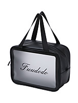 cheap -2pcs Travel Organizer Cosmetic Bag Travel Toiletry Bag Large Capacity Washable Travel Storage Durable Transparent PVC(PolyVinyl Chloride) For Portable Foldable Luggage