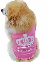 cheap -pet shirt, soft cotton puppy vest dog shirt pet clothes summer sweatshirt pink