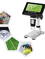 cheap -1000X Portable Digital Microscope 4.3 LCD Display 1080P LED Magnifier for Mobile Phone Maintenance QC/Industrial/Collection Inspection with Built-in Rechargeable Lithium Battery and Metal Stand