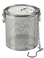 cheap -hemoton tea ball infuser stainless steel mesh seasoning bag filter cooking strainer basket for spices loose leaf tea (14x15 silver)