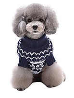cheap -christmas dog sweater winter dog&cat vintage holiday patterned pet sweaters, blue2, large