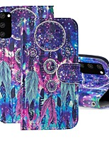 cheap -Case For Samsung Galaxy S20 FE Wallet Card Holder with Stand Full Body Cases Feathers PU Leather Galaxy S20 Plus Note 20 Ultra J2 Core A01 A11 A21S A31 A41 A51 A71 A81 A91