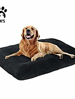 cheap -dog bed long plush pet bed, comfortable faux fur washable crate mat for large medium dogs with anti-slip backing