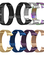 cheap -Watch Band for Fitbit Charge 3 / Fitbit Charge 4 Fitbit Sport Band Stainless Steel Wrist Strap