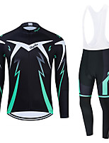 cheap -WECYCLE Men's Women's Long Sleeve Cycling Jersey Cycling Tights Winter Black Dark Gray Black / White Bike Breathable Quick Dry Sports Graphic Mountain Bike MTB Road Bike Cycling Clothing Apparel