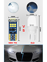 cheap -10pcs Car Light Bulbs 3 W SMD 2835 16 LED License Plate Lights / Interior Lights / Side Marker Lights For universal All years