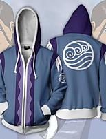 cheap -Inspired by Avatar: The Last Airbender Katara Cosplay Costume Hoodie Terylene 3D Printing Hoodie For Men's / Women's