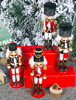 cheap -Christmas Decoration Wooden Painted 20cm Walnut Soldier Doll Ornaments