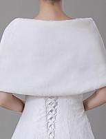 cheap -Short Sleeve Shawls Faux Fur Wedding Women's Wrap With Button