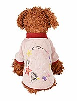 cheap -pet dog winter 2 legs clothes embroidered dog sweater soft padded warm embroidered sweater for dogs