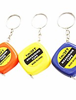 cheap -1m/3ft Easy Retractable Ruler Tape Measure Mini Portable Pull Ruler Keychain Color Random Easy to carry