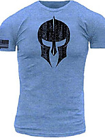 cheap -distressed spartan warrior premium athletic fit heathered royal blue t shirt (small)